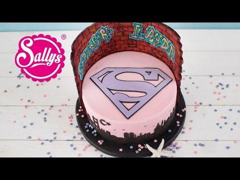 Supergirl Torte für Ilayda / Fondanttorte / Schokoladentorte