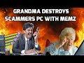 Grandma Hacks & Destroys A Scammers Computer