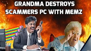 Grandma Destroys A Scammers Computer thumbnail