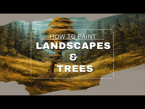 How to paint a Landscape and Trees – Photoshop Tutorial with the MA-Brushes (Part 2/3)