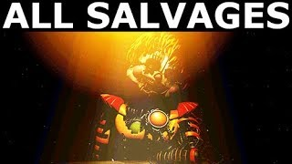 FNAF 6 - All Animatronic Salvage Minigames (Freddy Fazbear's Pizzeria Simulator) (No Commentary)