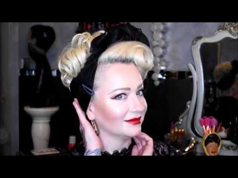 easy pin up hair tutorial with scarf / tuto coiffure facile pin up avec  foulard