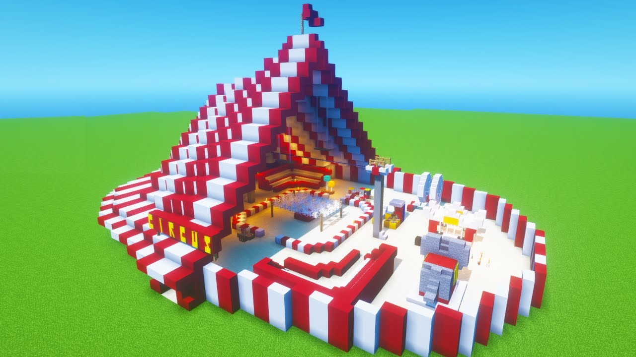 """Minecraft Tutorial: How To Make A Circus """"2021 City Builds"""""""