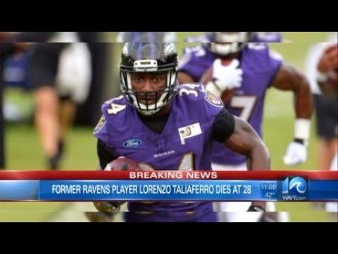 Former Ravens running back Lorenzo Taliaferro dies at 28