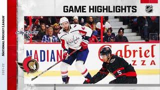 Capitals @ Senators 10/25/21 | NHL Highlights