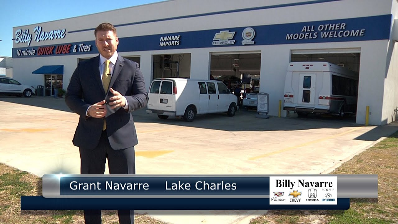 Grant Navarre shows Billy Navarre Certified Used Cars