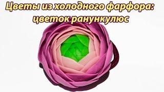 Цветы из холодного фарфора: цветок ранункулюс (лютик): подробный видео урок(Сегодня для вас видео мастер-класс по лепке цветов из холодного фарфора. В этом видео вы научитесь лепить..., 2016-02-26T13:02:03.000Z)
