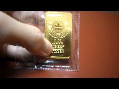 Review Royal Canadian Mint Certified Gold Bar 1 oz 1oz ounce pure 0.999 999 Bullion 24k 24 Karat