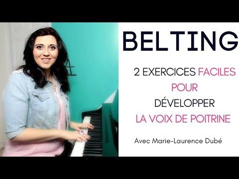 Le BELTING :  2 exercices pour développer la voix de poitrine