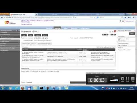 Capacitación sistema de inventarios msp