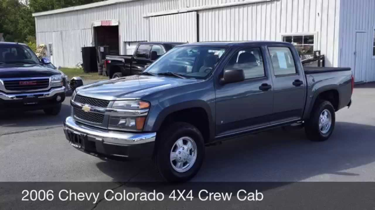 2006 chevrolet colorado 4x4 crew cab for sale in greenwich ny 12834 youtube. Black Bedroom Furniture Sets. Home Design Ideas