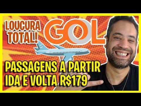 LOUCURA GOL! PASSAGENS AÉREAS GOL CADA VEZ MAIS BARATAS! IDA E VOLTA A R$179!