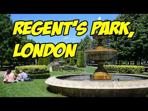 Exploring Regent's Park, London, England