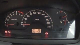 Снятие щитка приборов в Mitsubishi Lancer 9 и замена лампы одометра