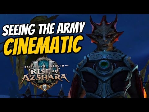 Nazjatar Seeing the Army Cinematic - Alliance | WoW Patch 8.2 Rise of Azshara | World of Warcraft