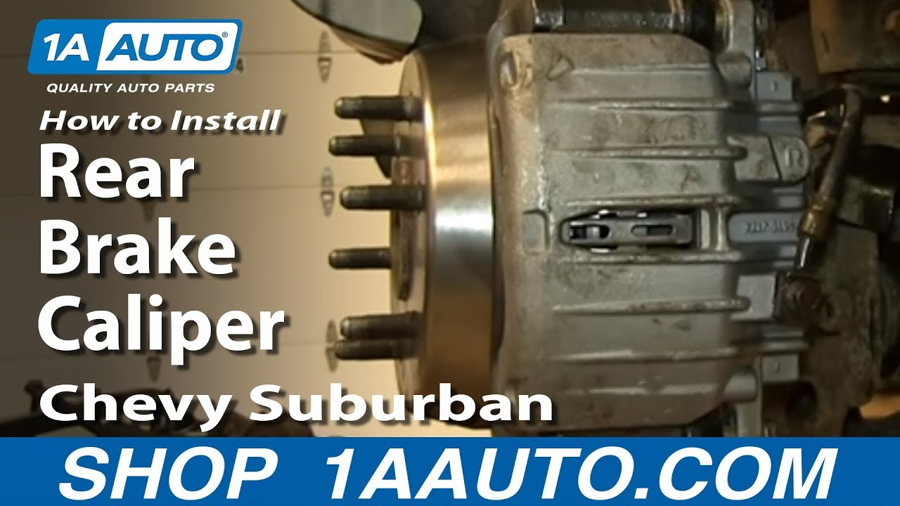How To Install replace Rear Brake Caliper 2000-06 Chevy ...