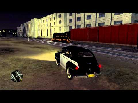 Train on the streets of Los Angeles in LA Noire