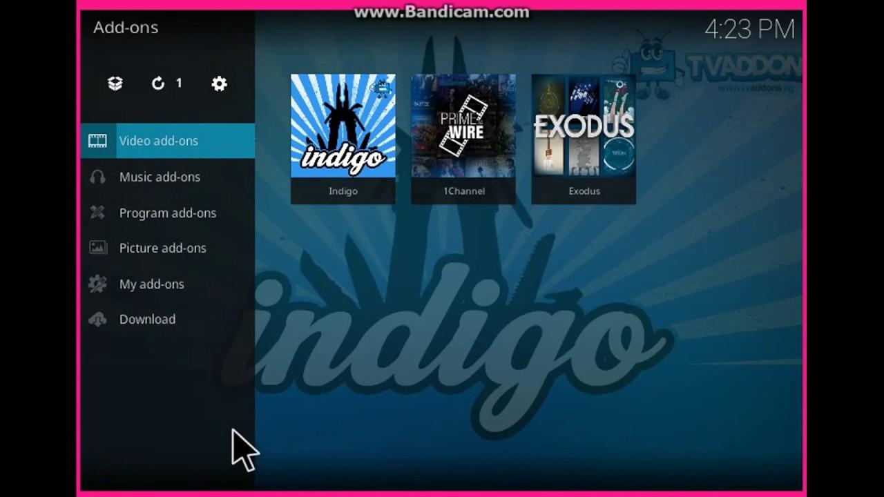 Indigo Config wizard error not loading addons in Kodi. ( Manually