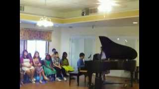 Jeet Playing Grand Piano @Elms Haven Care Center, Thornton, CO