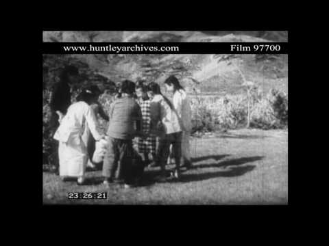 Children's games in 1950's China.  Archive film 97700