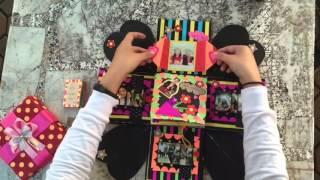 Repeat youtube video Explosion box / DIY / Handmake / กล่องของขวัญให้แฟน / Exploding box / Anniversary