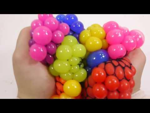 стресс мячики разные цвета Squishy Stress Ball Change Colors Learn Colors Kinetic Sand