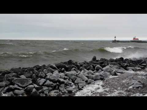 Christmas Day Storm in Duluth, MN USA 12-25-2016