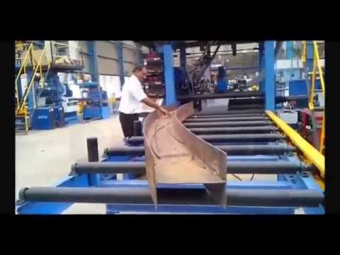 Curved H Beam Welding