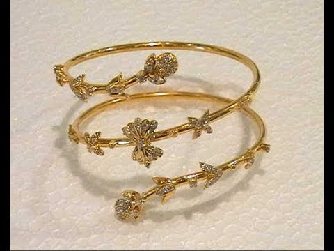15b6f3713db4a Latest Gold With Diamond Bracelets Designs || simple designs of bracelets  for girls
