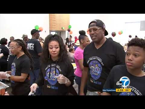 Master P, YG host free Thanksgiving dinner for Compton community | ABC7