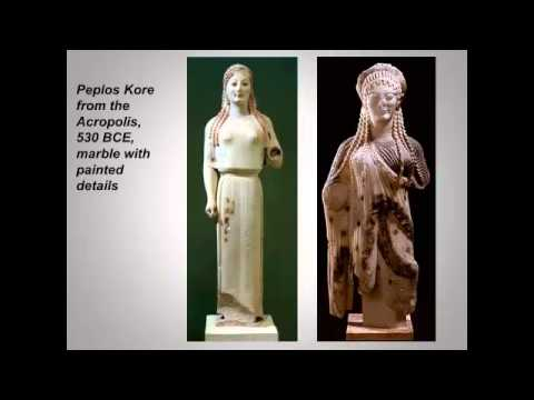 Greek art lecture 3  Archaic and Classical sculpture