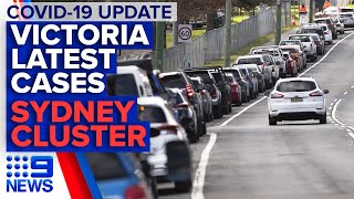 Coronavirus: Latest on restrictions, cases in Melbourne; Sydney cluster grows | 9 News Australia