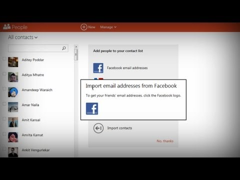 Import Facebook Email Addresses Into Outlook (Hotmail)