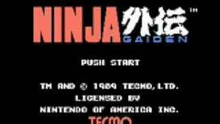 nes collections - Ninja Gaiden - game over Resimi