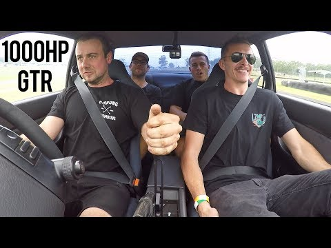 1000hp R32 GTR Reaction! - SEQUENTIAL GEARBOX!
