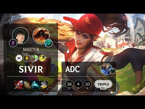 Sivir ADC vs Ezreal - KR Master Patch 10.10