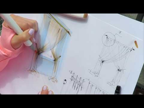 Как нарисовать шторы и обои 3 класс