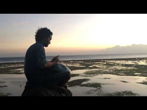 Indian Musician playing beautiful hang music for meditation