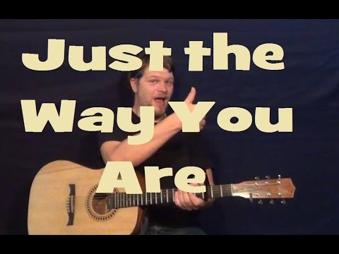 Just The Way You Are (Billy Joel) Guitar Lesson How to Play Tutorial