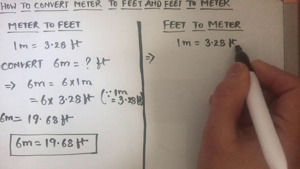 How To Convert Meter M To Feet Ft And Feet To Meter Feet To Meter And Meter To Feet Conversion Youtube 1 ft = 0.3048 m: how to convert meter m to feet ft and feet to meter feet to meter and meter to feet conversion
