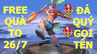 Liên quân Lữ bố Bãi biển = 1 Viên đá Chiến thần cân tất và cái kết thảm họa - Free quà 26-7