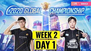 [Bahasa] PMGC 2020 League W2D1 | Qualcomm | PUBG MOBILE Global Championship | Week 2 Day 1