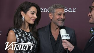 George and Amal Clooney on the Red Carpet at 'The Tender Bar' Premiere