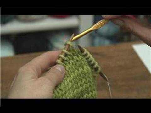 Picking Up Stitches When Knitting : How to Knit : How to Pick Up a Dropped Stitch in Knitting - YouTube