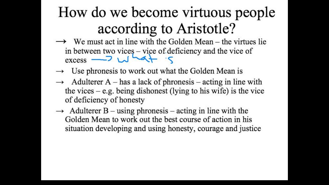 aristotle s definition of virtue essay example An analysis and critique of aristotle's principles of virtue  in the mean time, the  paper will discuss whether the distinction of the first and  for example, there is  no universal rule regulating how much a person should drink.