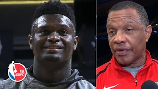 Alvin Gentry addresses Zion's absence from Pelicans due to knee injury | NBA on ESPN