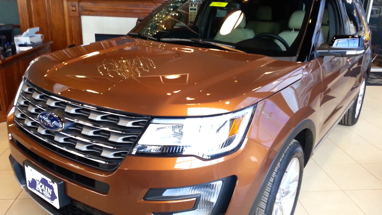 All New Color Canyon Ridge For 2017 Ford Explorer