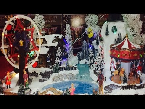 Lemax Christmas Village Displays Ideas Carousel Ferris Wheel Ride Animated Musical Songs Toys
