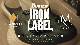 Ibanez RGDIX7MPB-SBB Iron Label DEMO by Mike Stamper | Pronorte Sonido