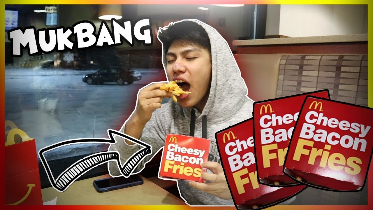 Cheesy Bacon Fries Mukbang Mcdonalds Fast Food